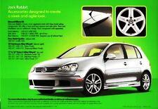2007 07 VW Rabbit Accessories oiginal sales brochure