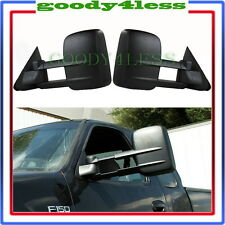 For 97-03 Ford F150 Light Duty Towing Manual Extendable Telescoping Mirrors Set