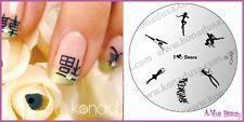Konad Stamping Nail Art Image Plate S8 BALLET DANCER