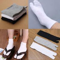 Hombre Mujer Sujeto Calcetines Abierto Sandalias Dos Dedos Kimono Japonés Geta
