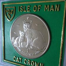 2008 Isola di Man BURMILLA RAZZA Cat & Kitten Corona Moneta (BU) Set Regalo da Collezione