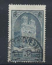 France N°259b Obl (FU) 1929/31 - Cathédrale de Reims