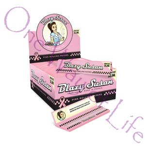 Blazy Susan Retro Rolling Papers - Pink, King Size, Vegan, GMO free, Skins