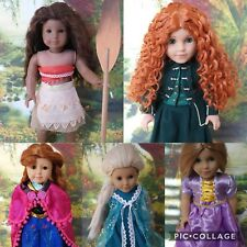18 Inch Doll (american Girl) Size 10/11 Princess Wigs