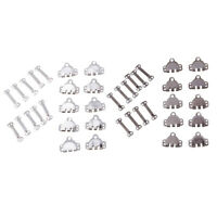 12 Sets 27mm 32mm Wire Bib and Brace Buckle For Overalls or Dungarees