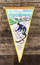 OMEGA pennant pennon VINTAGE FLAG Display 1967 cronometro Seamaster Speedmaster