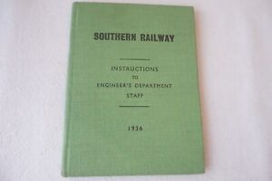 1936 Southern Railway Rule Book Instructions Book Engineers Department Staff