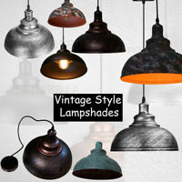 Industrial Easy Fit Ceiling Pendant Light Shade Iron Vintage Lampshade
