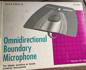 Optimus Boundary Omnidirectional Microphone 33-3020 Professional Grade ,Black