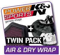 K&N Air Filter & Dry Wrap HONDA TRX680FGA Rincon GPScape 2006-2009  Repels Dirt!