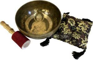 Tibetan Brass Singing Bowls & Artefacts Buddhist Meditation Prayer
