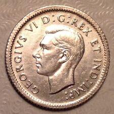 1938 Canada George VI Ten 10 Cents AU Almost Uncirculated