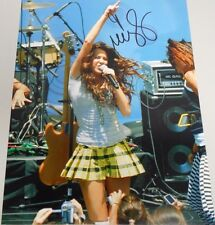 MILEY CYRUS * SINGER - ACTRESS IN CONCERT *  HAND SIGNED 11 X 14 ' W/COA