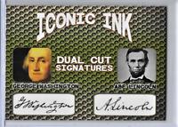 Abe Lincoln George Washington Presidential Iconic Ink Facsimile Auto Cards