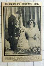 1915 Warrant Officer Hg Maxwell With Bride Maud Blomer Cutting Cake