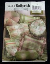 Butterick B4413 Pillow Pattern Eight Decorative Throw Pillow Patterns Uncut New