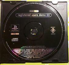 ☆PS1 / PSX Playstation Demo - Registration demo 03 [SCED-01230][nur/ only Disc]☆