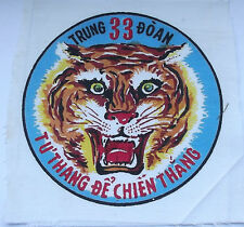 vietnam american war vintage  printed 33 infantry strike force large tiger patch