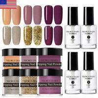 10pcs/set NICOLE DIARY Nail Dipping Powder Set Dip Liquid Nail Art Starter Kit