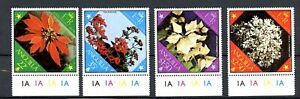 Anguilla MNH#367-70 Christmas 1979 Flowers Diamond Stamps w/tabs A001