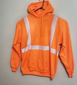 NEW - Hi Vis Reflective ANSI Class 2 Work Hoodie - Size Large