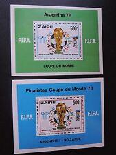 Zaire RDC cob Blocs 26/27  Mnh