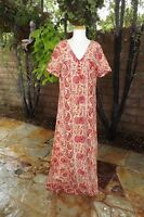 VINTAGE INDIAN COTTON 70's DRESS......Auth. 70's TAPESTRY Hippie Woodstock Boho