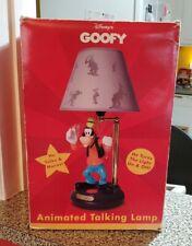 Goofy Animated Talking Lamp Vintage - New Works Great Disney Light -