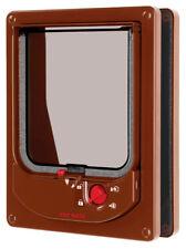 Electromagnetic Cat Flap Brown 16.8x21.9cm