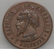 Frankrijk - France :   medal Napolen IIII Le Miserable 2 decembre - nice!