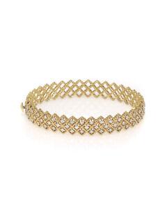 Roberto Coin Barocco 18k Yellow Gold Diamond 1.10ct Bracelet 48 Hour BLOWOUT!!!