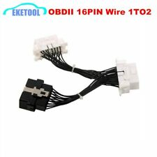 Quality A Newest OBD 2 Y Splitter Extension Cable OBD2 16PIN Male to Female E…