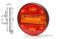 LED RÜCKLEUCHTE - UNI 12/24V RUND d=140mm - EXTRA SCHMAL - 3 FUNKTIONEN #744