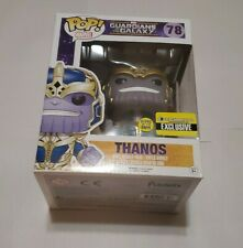 "Funko Pop! Marvel #78 Thanos 6"" GITD EE Exclusive Guardians of Galaxy Not Mint"