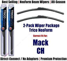 2pk Super-Premium NeoForm Wipers fit 1989-2005 Mack CH 16200x2