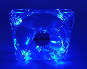 3x PC Gehäuse-Lüfter Lian Li LI121425QL-B4-A 140x140x25mm - LED blau leuchtend