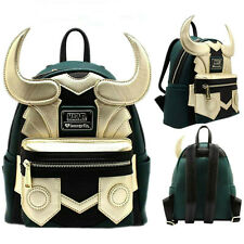 Avengers Loki Faux Leather Mini Loungefly Backpack Purse Backpack Shoulder Bags