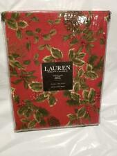 NWT Ralph Lauren Birchmont Red 60x84 Tablecloth Christmas Red Pine Cone Berries