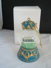 Parthenon Athens Greece Snow Globe Ornament Boxed Snowdome