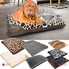 Large & Extra Large Filled Pet Bed Cats Dogs Washable Zipped Mattress Cushions