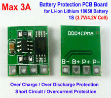 1S 3.7V 3A Li-ion Lithium Battery 18650 Charger Over Charge Protection Board