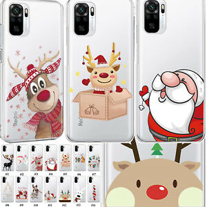 For Xiaomi Redmi Note 10 Pro 5G 9T 9 4G Christmas Soft Silicone Phone Case Cover