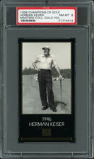 1997-98 GRAND SLAM VENTURES GOLF MASTERS GOLD FOIL HERMAN KEISER (1946) PSA 8