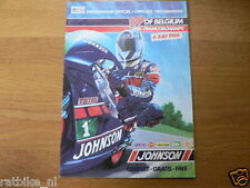 1986 JOHNSON GRAND PRIX BELGIUM SPA FRANCORCHAMPS 6-7-1986 PROGRAMMA