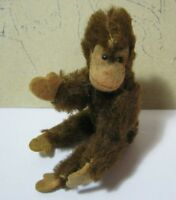 Mohair Mini Jocko Chimp Jointed Monkey Vintage Toy  T*