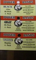 POWER BUGLE ELK CALL WOLF HOWLER REPLACEMENT BANDS 3 pack White, Black, Gray