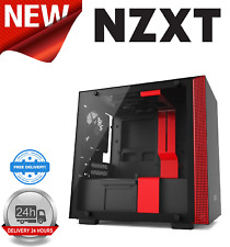NZXT H200 Matte Black/Red Mini-ITX Tower Case Tempered Glass Window