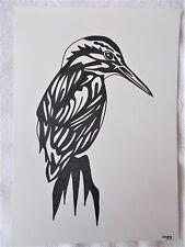 A4 Bolígrafo Marcador de arte dibujo pájaro Martín Pescador De Animales C cartel Estilizado