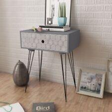 Industrial Side Table Small Bedside Cabinet Vintage Retro Unit Storage Furniture