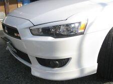 Fiberglass Headlight Eyebrows Eyelids for 2008-2014 Mitsubishi Lancer Evo GTS 10